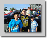 Cole Cabrera and fan at Irwindale