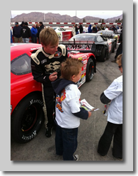 Cole Cabrera signs autographs for fans at Irwindale